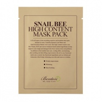 BENTON Tuchmaske Snail Bee High Content Mask Pack 20g